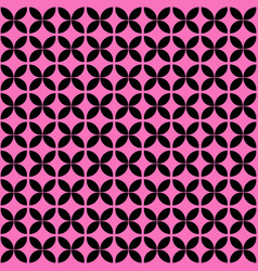 pink and black geometric seamless pattern vector image vector image
