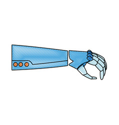 robotic arm mechanical modern technology vector image vector image