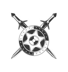 shield icon black and white vector image