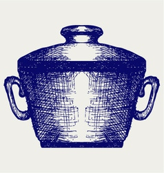 Steel pot vector image vector image