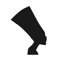 Traditional symbols of egypt sphinx head vector