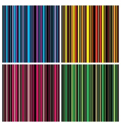 vintage stripes set vector image vector image