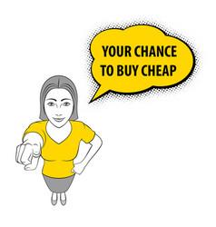woman gesturing vector image