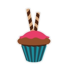 Muffin cupcake icon bakery design graphic vector