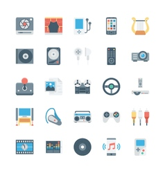 Music and multimedia icons 3 vector