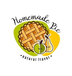 Homemade pie emblem vector