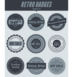retro badges vector image