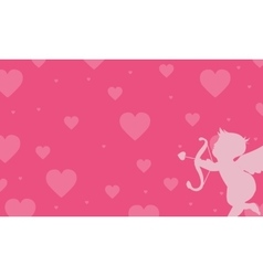Love with cupid backgrounds vector