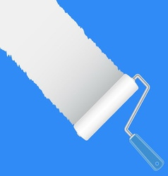 Paint roller brush with white vector