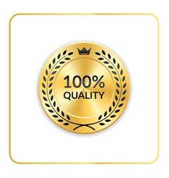 Seal award gold icon medal vector