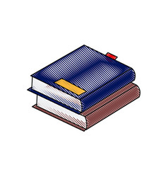 stack books literature study learn read image vector image