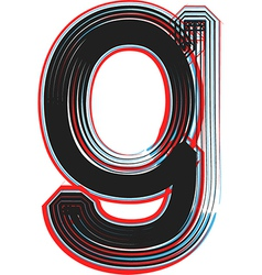 abstract font letter g vector image