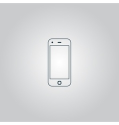 Mobile smartphone icon sign and button vector