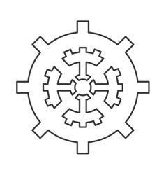 Industrial wheel cog gear symbol vector