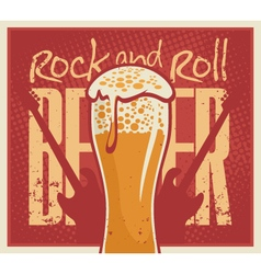 Beer rock and roll vector