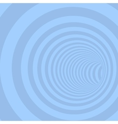 Blue circle striped abstract tunnel vector