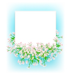 Card with small pink flowers vector