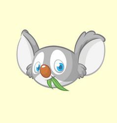 cartoon koala head icon vector image