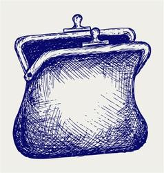Empty open purse vector image