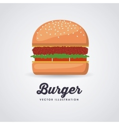 Fast food design vector