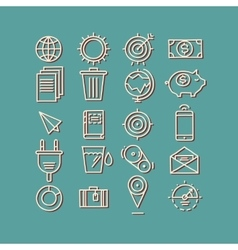 Hand drawn icons concept business web media seo vector image vector image