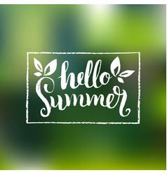 hello summer background fun vector image vector image