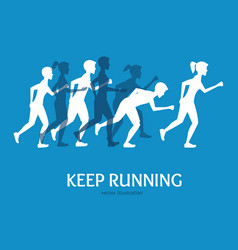 keep running card vector image