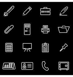 line office icon set vector image vector image