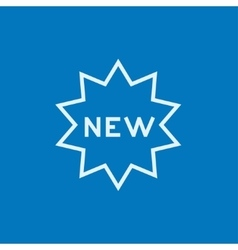 New tag line icon vector image vector image