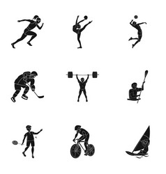 Olympic sports winter and summer sports a set of vector