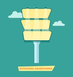 Outdoor advertising billboard poster vector
