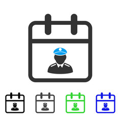 Police day flat icon vector