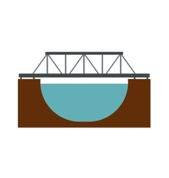 Rail bridge icon vector