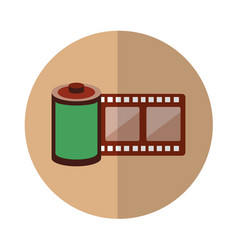Roll tape record isolted icon vector