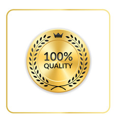 seal award gold icon medal vector image vector image
