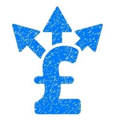 Split pound payment grainy texture icon vector