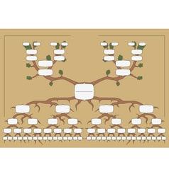 The family tree vector