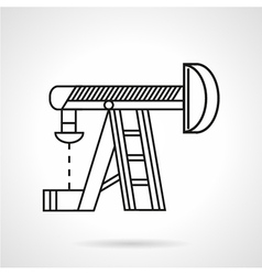 Thin line oil derrick icon vector