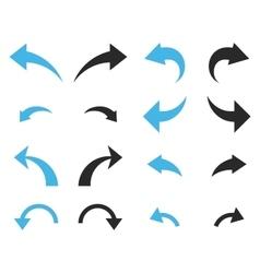 Undo and redo flat icon set vector