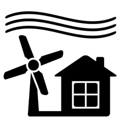 Windmill alternative energy source for home vector
