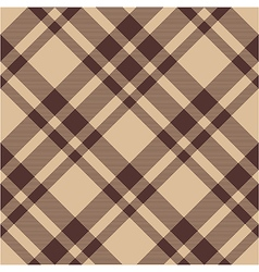 Beige brown diagonal check plaid seamless pattern vector