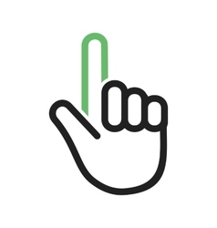 Raised finger vector