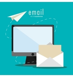 Email message and communication design vector