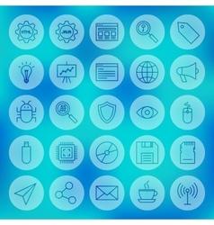 Line circle web computer icons vector
