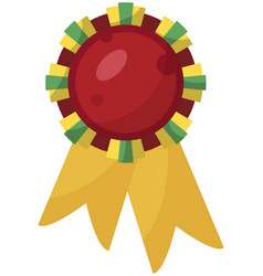 red medal in flat vector image