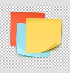 Multicolor post it notes vector