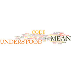 Everyone talks in code text background word cloud vector