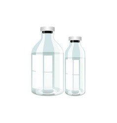 Plastic transparent bottles with medicine vector