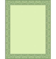Green certificate background vector