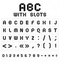 slot font vector image